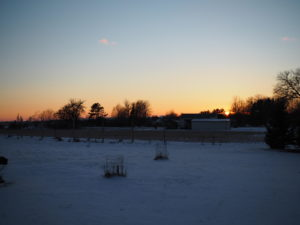 A Cold Winter's sunset